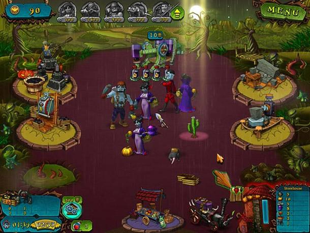 Screenshot d'un jeu sur mobile