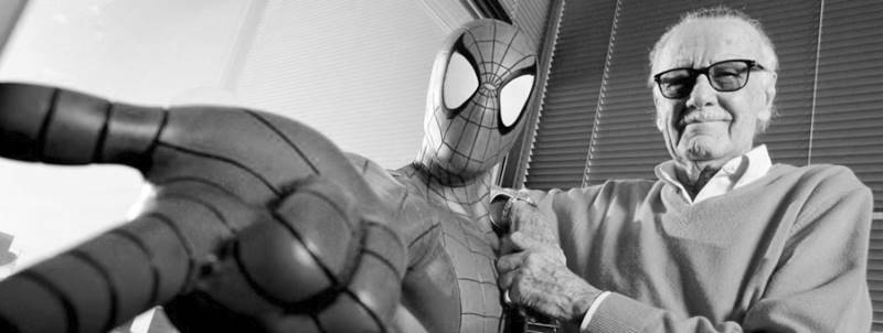 Stan Lee avec Spider Man